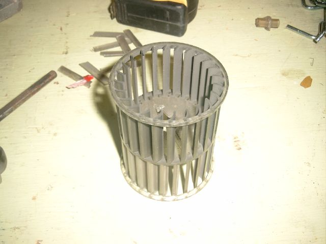 Squirrel Cage Fan Blades : Astro rear a c motor and fan replacement